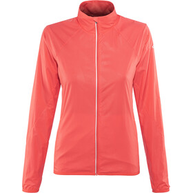 Icebreaker Rush Windbreaker Jacket Women poppy red/embossed